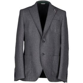 《期間限定セール開催中!》MANUEL RITZ メンズ テーラードジャケット グレー 56 ウール 40% / コットン 34% / ナイロン 14% / ポリエステル 9% / 指定外繊維 3%