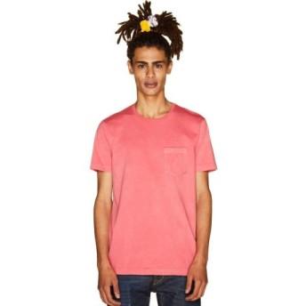 (BENETTON (UNITED COLORS OF BENETTON)/ベネトン(ユナイテッド カラーズ オブ ベネトン))製品染めポケットTシャツ・カットソー/メンズ ピンク