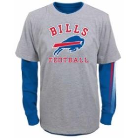 Outerstuff アウタースタッフ スポーツ用品  Buffalo Bills Youth Gray Classic Fade Short & Long Sleeve T-Shirt Combo