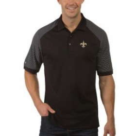 Antigua アンティグア シャツ ポロシャツ Antigua New Orleans Saints Black/White Desert Dry Engage Polo
