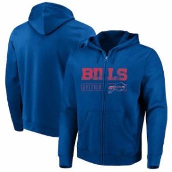 Majestic マジェスティック スポーツ用品 Majestic Buffalo Bills Royal Hyper Stack Full-Zip Hoodie