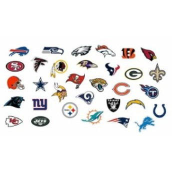 Fathead ファサード スポーツ用品 Fathead NFL Shield Large Removable Wall Decal