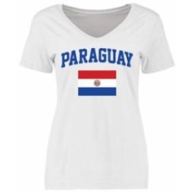 Fanatics Branded ファナティクス ブランド スポーツ用品  Paraguay Womens White Flag T-Shirt