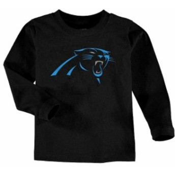 Outerstuff アウタースタッフ スポーツ用品 Carolina Panthers Toddler Black Team Logo Long Sleeve T-Shirt