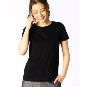 コムサイズム ベーシック 半袖 Tシャツ レディース ブラック S 【COMME CA ISM】