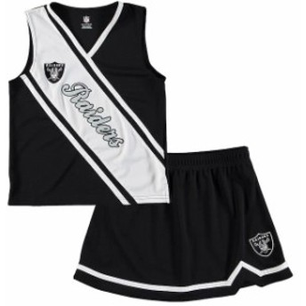 Outerstuff アウタースタッフ スポーツ用品 Oakland Raiders Girls Youth Black 2-Piece Cheerleader Set