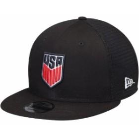 New Era ニュー エラ スポーツ用品  New Era US Soccer Black Trucker 9FIFTY Adjustable Snapback Hat