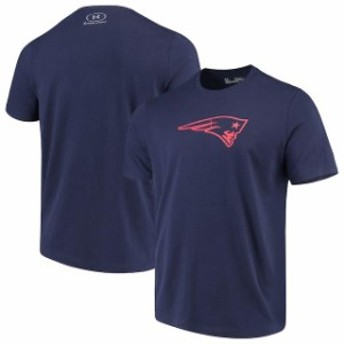 Under Armour アンダー アーマー スポーツ用品 Under Armour New England Patriots Navy Combine Authentic Dot Logo Per