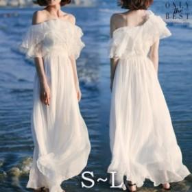 激安 大人気 オフショルダー ウェディングドレス 白 二次会 花嫁 カラードレス ウェディング 白 ワンピース ドレス ロングドレス セール