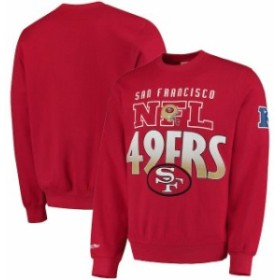 Mitchell & Ness ミッチェル アンド ネス 服 スウェット Mitchell & Ness San Francisco 49ers Scarlet Toss Up Sweatsh