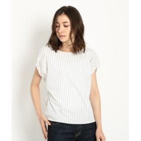 (Dessin/デッサン)ブライトブロードスクエアシャツ/レディース ブルー×ホワイト(392)