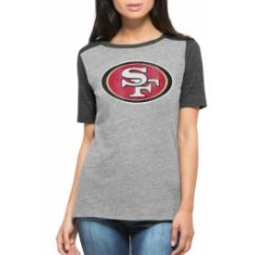 47 フォーティーセブン スポーツ用品  47 Brand San Francisco 49ers Womens Heather Gray Empire Tri-Blend Slub T-Shir