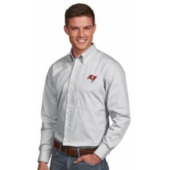 Antigua アンティグア シャツ ポロシャツ Antigua Tampa Bay Buccaneers Gray Dynasty Woven Long Sleeve Button-Down Shi
