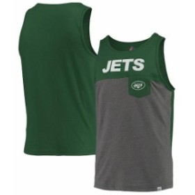 Majestic マジェスティック 服 タンクトップ Majestic New York Jets Heathered Gray/Green Throw the Towel Tank Top