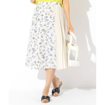【オンワード】 any SiS(エニィスィス) 【洗える】ブルーミングフラワープリント スカート アイボリー 2 レディース 【送料無料】