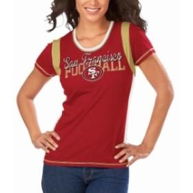 Majestic マジェスティック スポーツ用品  Majestic San Francisco 49ers Womens Scarlet Pride Playing V T-Shirt