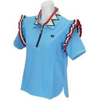 カッパ KappaKappa G フラッシュパターン半袖ポロシャツ レディス