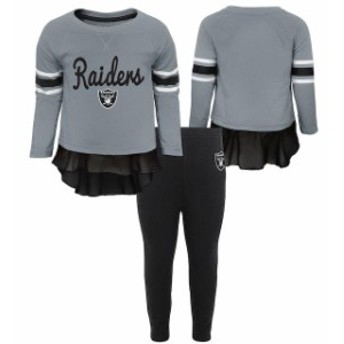 Outerstuff アウタースタッフ スポーツ用品 Oakland Raiders Girls Toddler Gray/Black Mini Formation Set