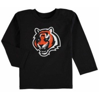 Outerstuff アウタースタッフ スポーツ用品 Cincinnati Bengals Toddler Black Team Logo Long Sleeve T-Shirt -