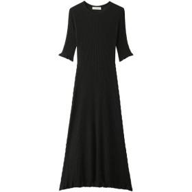 Shinzone シンゾーン フリルスリーブドレス ブラック