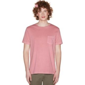 (BENETTON (UNITED COLORS OF BENETTON)/ベネトン(ユナイテッド カラーズ オブ ベネトン))製品染めポケットTシャツ・カットソー/メンズ ライトピンク