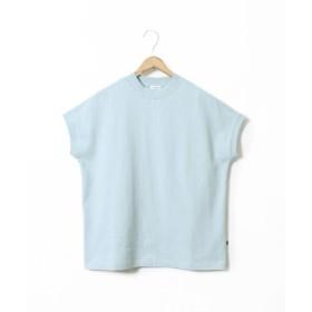 (coen/コーエン)【WEB限定カラーに新色ブラウン登場】USAコットンハイネックTシャツ/レディース LIME