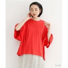 メルロー ビッグシルエットTシャツ レディース レッド FREE 【merlot】