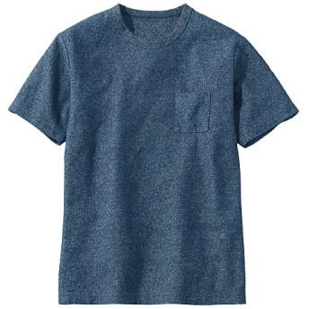 45%OFF【メンズ】 ドライ・ブークレー素材のポケット付きデザインTシャツ - セシール ■カラー:ネイビー ■サイズ:3L,M,5L