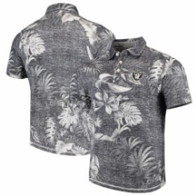 Tommy Bahama トミー バハマ シャツ ポロシャツ Tommy Bahama Oakland Raiders Black Parque Polo
