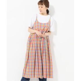 journal standard luxe 【injiri / インジリ】 check Slip Dress ピンク L