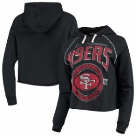 Junk Food ジャンク フード スポーツ用品  Junk Food San Francisco 49ers Womens Black Team Logo Cropped Raglan Pullove