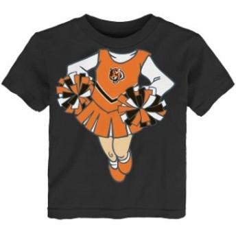 Outerstuff アウタースタッフ スポーツ用品 Cincinnati Bengals Girls Infant Black Cheerleader Dreams T-Shirt