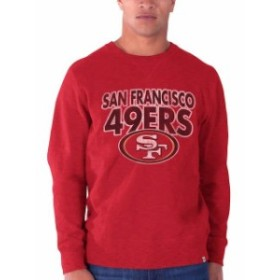 47 フォーティーセブン 服 スウェット 47 Brand San Francisco 49ers Scarlet First String Heavy Slub Crew Sweatshirt
