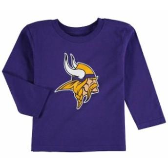 Outerstuff アウタースタッフ スポーツ用品 Minnesota Vikings Preschool Team Logo Long Sleeve T-Shirt - Purple