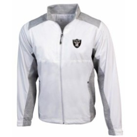 Antigua アンティグア アウターウェア ジャケット/アウター Antigua Oakland Raiders White Revolve Full-Zip Jac
