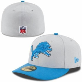 New Era ニュー エラ スポーツ用品  New Era Detroit Lions Gray/Light Blue On-Field Low Crown 59FIFTY Fitted Hat