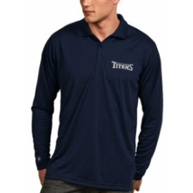 Antigua アンティグア シャツ ポロシャツ Antigua Tennessee Titans Navy Exceed Desert Dry X-tra Lite Long Sleeve Polo