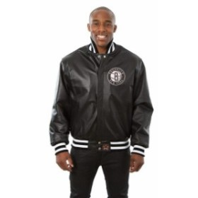 JH Design ジェイエイチ デザイン スポーツ用品  JH Design Brooklyn Nets Black Domestic Team Color Leather Jacket