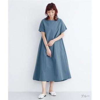 メルロー Aライン無地コットンワンピース レディース ブルー FREE 【merlot】