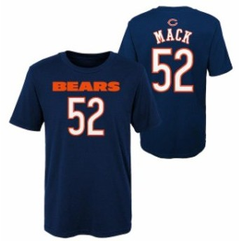 Outerstuff アウタースタッフ スポーツ用品 Khalil Mack Chicago Bears Preschool Navy Mainliner Name & Number T-Shirt