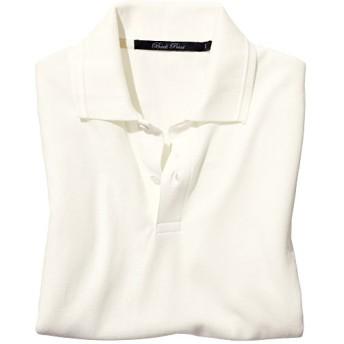 45%OFF【メンズ】 オーガニックコットン100%ポロシャツ(レギュラータイプシルエット) - セシール ■カラー:ホワイト ■サイズ:3L,S,M,5L