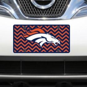 Stockdale ストックデール スポーツ用品  Denver Broncos Chevron Acrylic Laser Cut Plate
