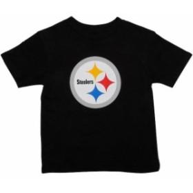 Outerstuff アウタースタッフ スポーツ用品  Pittsburgh Steelers Preschool Team Logo T-Shirt - Black