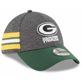 New Era ニュー エラ スポーツ用品  New Era Green Bay Packers Heather Gray/Green 2018 NFL Sideline Home Graphite 39THIR