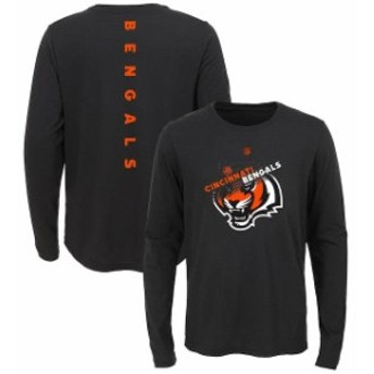 Outerstuff アウタースタッフ スポーツ用品 Cincinnati Bengals Youth Black Flux Ultra Long Sleeve T-Shirt
