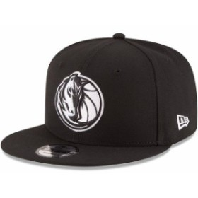 New Era ニュー エラ スポーツ用品  New Era Dallas Mavericks Black Black & White Logo 9FIFTY Adjustable Snapback Hat