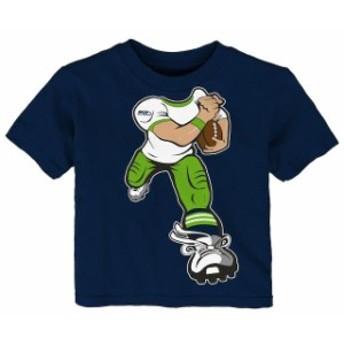 Outerstuff アウタースタッフ スポーツ用品 Seattle Seahawks Toddler College Navy Yard Rush T-Shirt