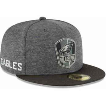 New Era ニュー エラ 服 New Era Philadelphia Eagles Heather Gray/Heather Black 2018 NFL Sideline Road Black 59FIFTY Fitted