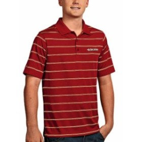 Antigua アンティグア シャツ ポロシャツ Antigua San Francisco 49ers Red Deluxe Desert Dry Polo