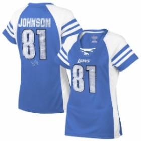 Majestic マジェスティック スポーツ用品  Majestic Calvin Johnson Detroit Lions Womens Light Blue Draft Him IV T-Shi